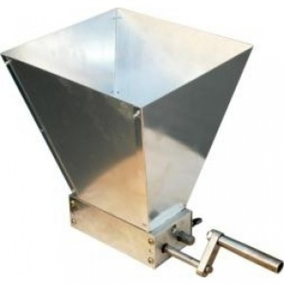 Grain Cracking Mill Manual- with hopper and 2 rollers