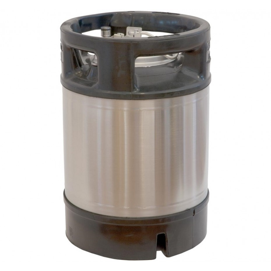 Beer Keg 9.5 LT New - Ball Lock Style and Rubber handle