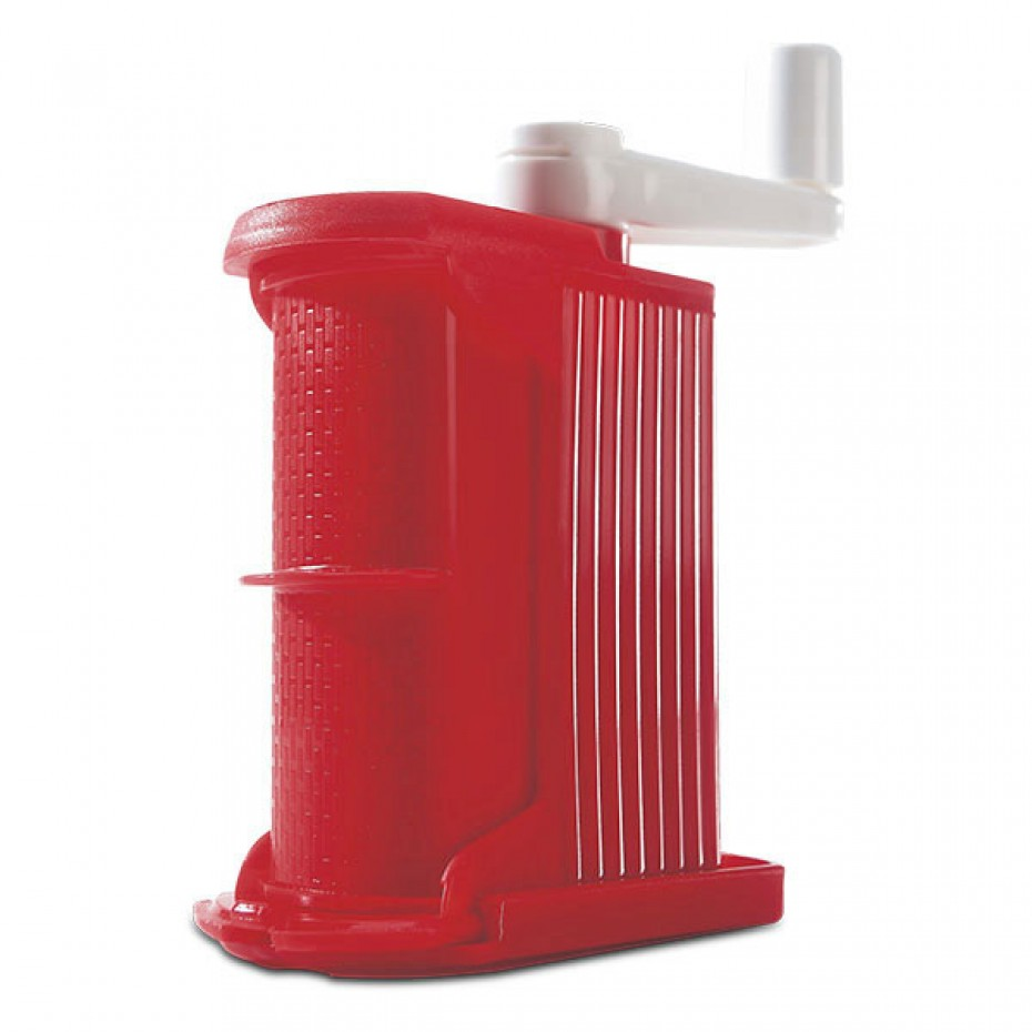 Hand Cheese Grater Red Plastic Body ( S/S 430 ) - Rigamonti