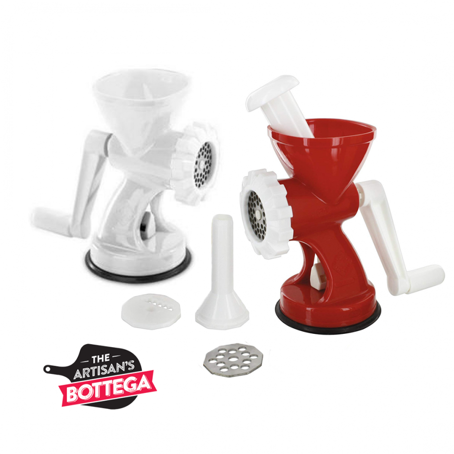 Rigamonti Hand Meat Mincer with Sausage Filling Accessories