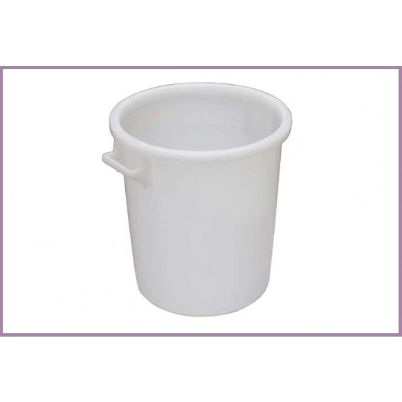 Vat Fermenter SSS Plastic Pail 75 Lt White Tall with Lifting Handle. Lid and Tap sold separately