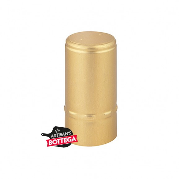 Heat Shrink Capsule Gold Satin 36x45mm 100 pack
