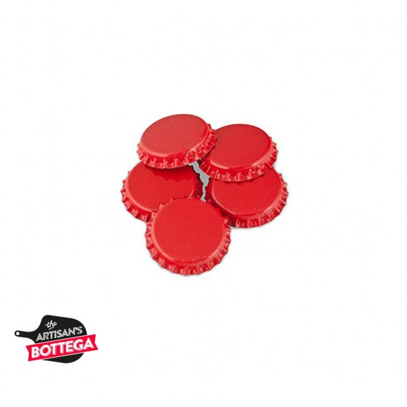 Red Crown Seals for Beer Bottles 100 pack
