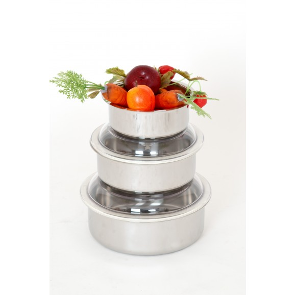SICO Vacuum Food Container D.24 round Stainless Steel