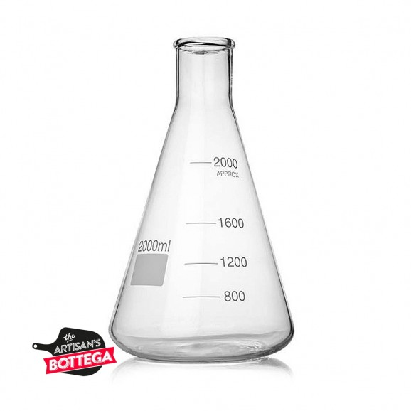 Conical Flask 3000ml Borosilcate Glass Erlenmyer