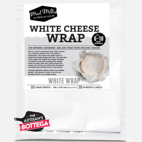 Cheese Wrap White (10 sheets) by Mad Millie