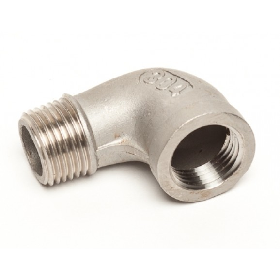 S/S Fitting 12.5mm BSP Male bend 90 to Female 12.5mm BSP
