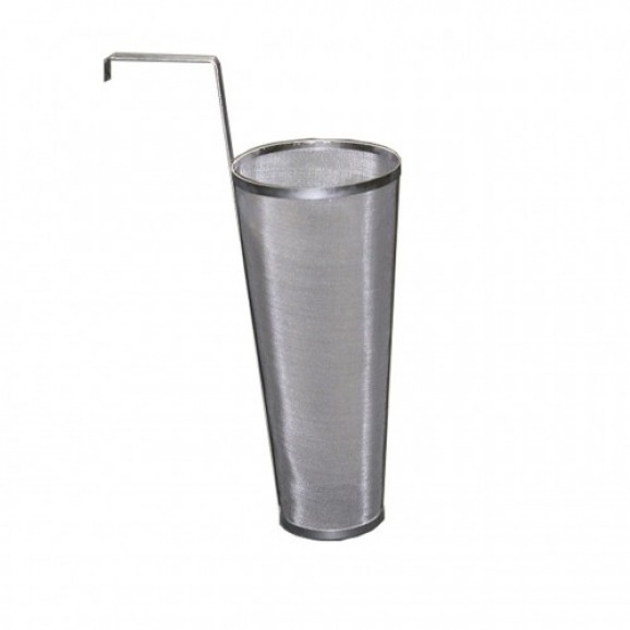 S/S Drain Screen 15x 35cm Height with Fermenter Side Hook