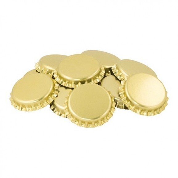 Caps for Beer Bottle 26mm - 100 pack Gold Top