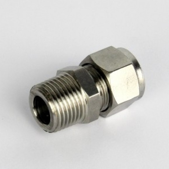 Compression fitting S/Steel 12.7 mm to 0.5 inch BSP male for Cooling coil