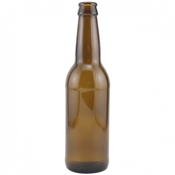 Glass Beer Bottle 330ml Amber - Crown Top (35 Pack)