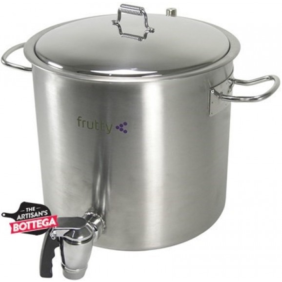 Cooking Pot Stainless Steel Double Wall With Jam Dispensing Valve