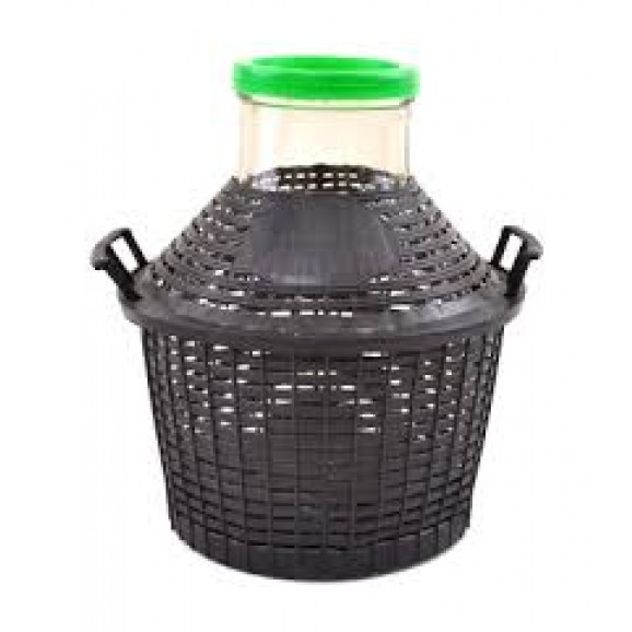 Wide Neck Demijohn with PVC Basket