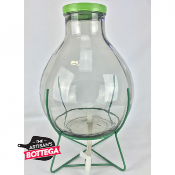 Wide Neck Demijohn on Stand with Tap