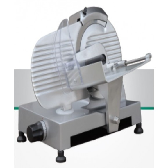 Meat Slicer Essedue 220 AFP with Alloy RED Gloss Frame and Blade Sharpener Onboard