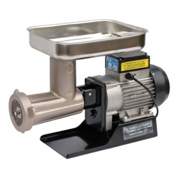 FLB Mincer Package- 1.0 HP Motor with Meat Attachment No. 22 Nickel Plate - With S/S Plate 6mm and Knife