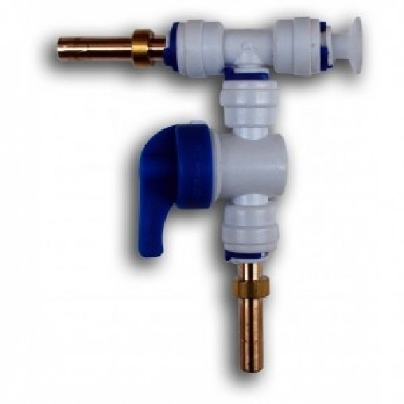 Plastic Gas Line T- Piece Splitter Valve Connect Multiple Tank / Kegs