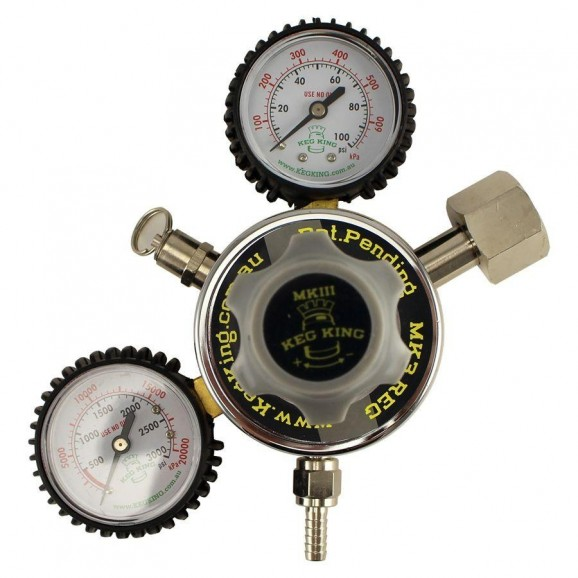 Regulator MK4 - Double Gauge Co2 Regulator 0 - 100 PSI