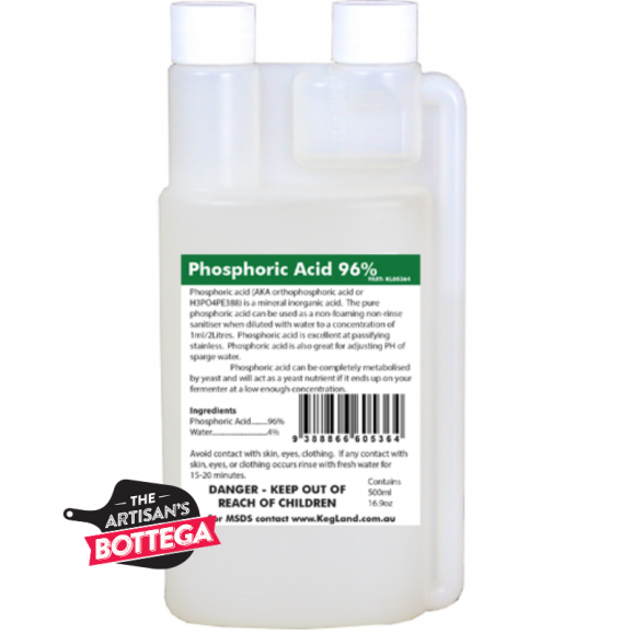 Phosphoric Acid 96% 500ml Equipment Sanitiser