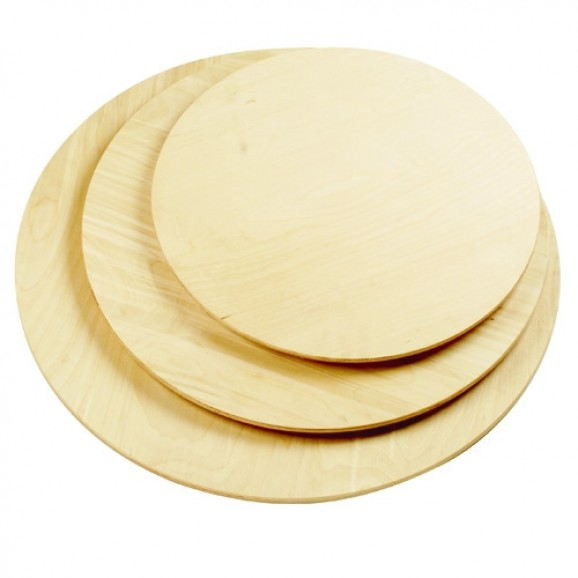 Round Wooden Paddle for Pizza or Cheese
