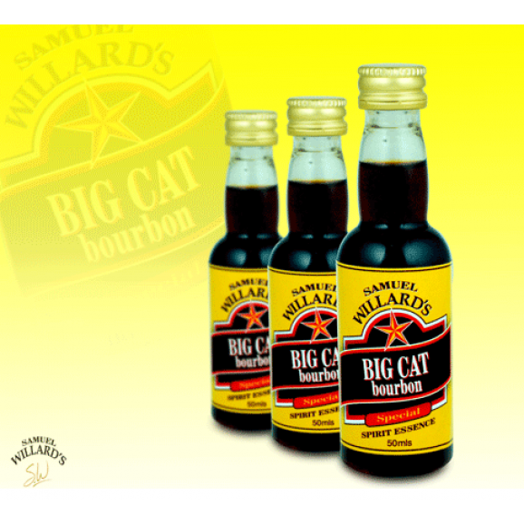 Samuel Willards Gold Star Essence Big Cat Bourbon 50ml