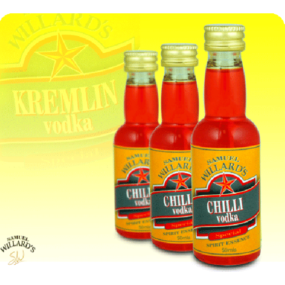 Samuel Willards Gold Star Essence Chilli Vodka 50ml