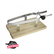 Prosciutto Carving Vice with Stainless Steel Clamp on Wood Base